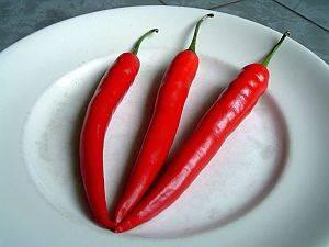 Scharfer Paprika - natürliches Schmerzmittel - Medizin